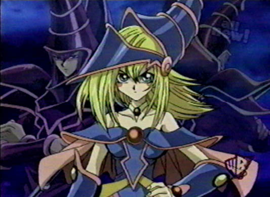 Dark Magician and Dark Magician Girl - Yu-Gi-Oh! Anime Screenshot